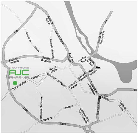 Plan détaillé de l'accès à l'usine